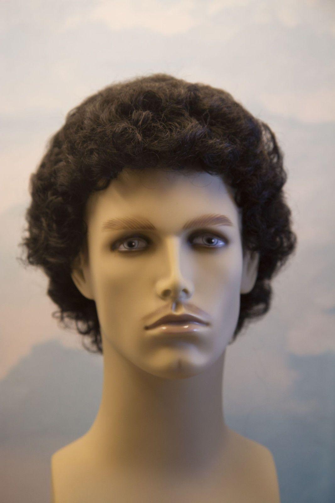 Black Curly Men Wig Men's wigs, Wigs,
