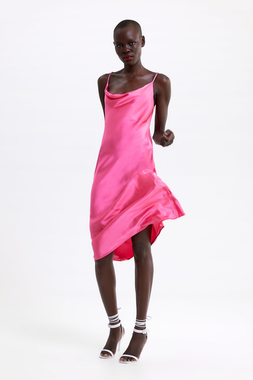 Jurk In Lingeriestijl Alles Bekijken Jurken Dames Zara Nederland Vestido Lencero Vestidos De Deslizamiento Moda