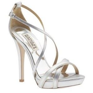 silver heels | Pageant nude/gold/silver strappy shoes, platform no ...