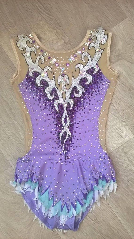 eac00f9bfec3 Made to order RHYTHMIC GYMNASTIC Leotard Shining Costume Competition  Dancewear 3000+ crystals purple