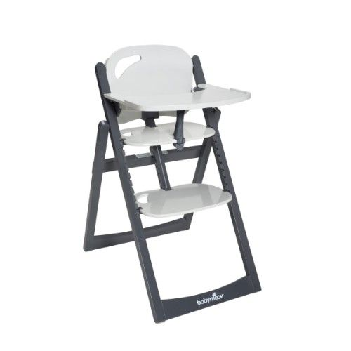 chaise haute evolutive light wood zinc aluminium babymoov
