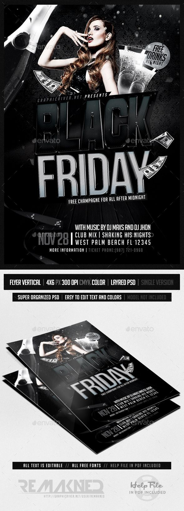 Black Friday  Flyer Template Psd  Flyer Template Template And