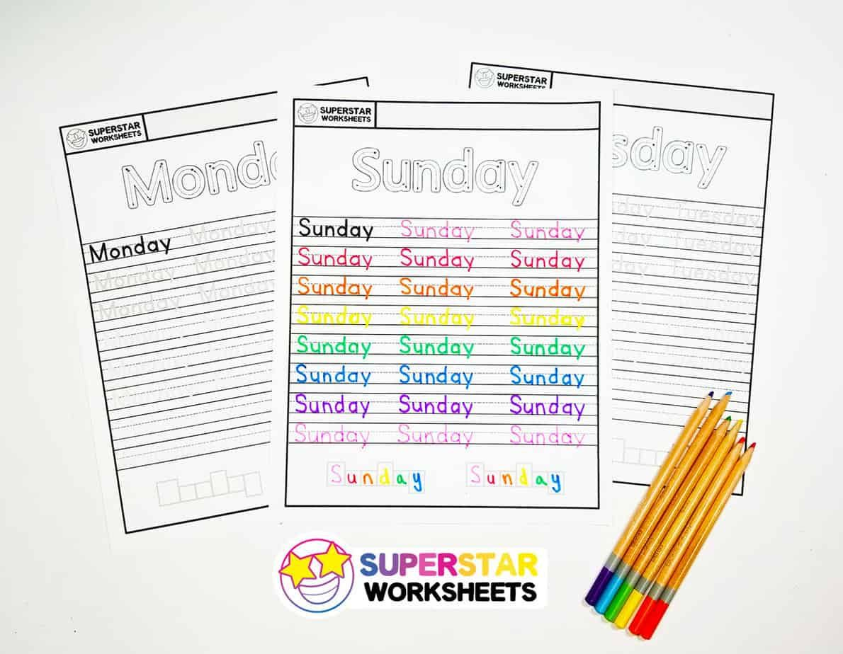 Free Days Of The Week Worksheets For Kids To Work On