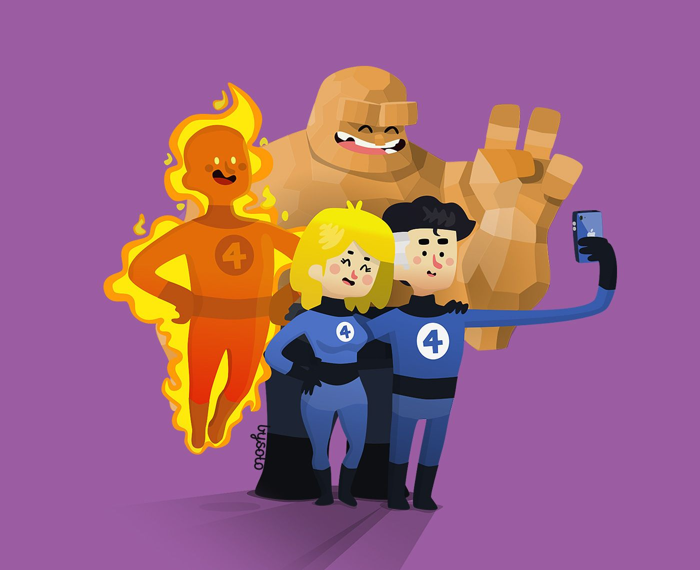 Super Selfies Illustration on Behance