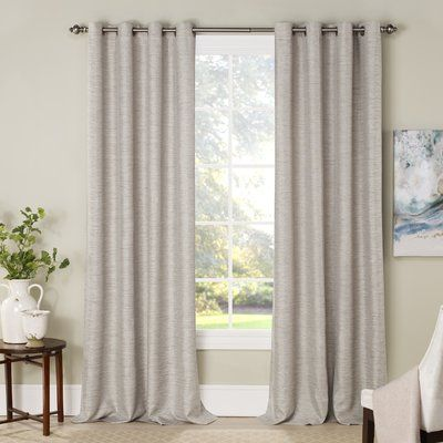 Charlton Home Mattie Solid Blackout Thermal Grommet Curtain Panels Color Ivory Size
