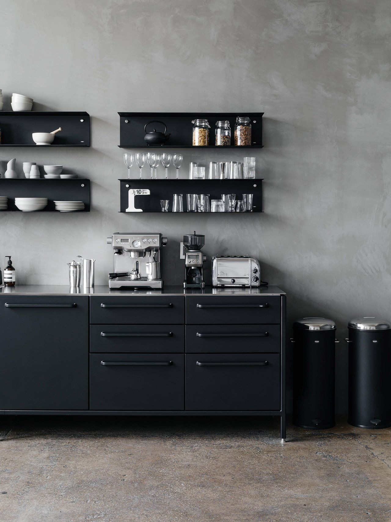 Vipp Kitchen Soho Office Avec Images Etagere Murale
