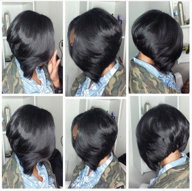 Layered Bob Sew In Sew In Bob Hairstyles Black Layered Bob