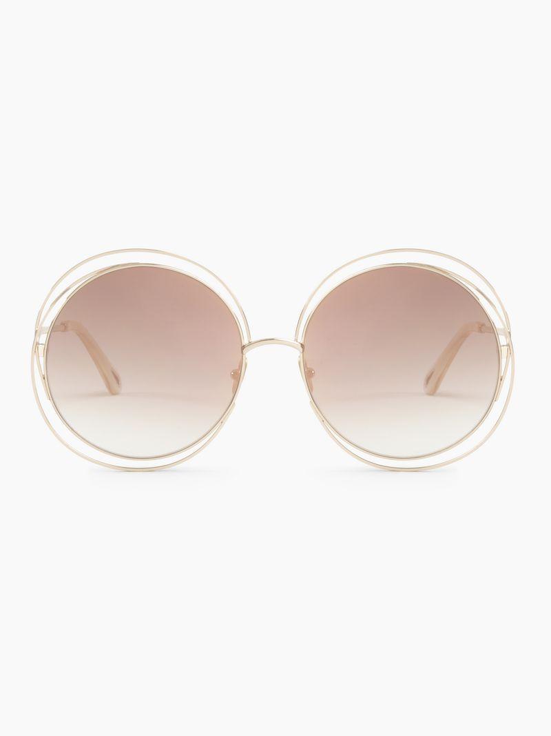 dba7c823fa0 Carlina pink sunglasses with chain jewel