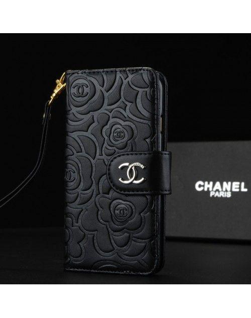 5e6ad4e487 シャネル 椿花柄 GalaxyS8/S7edgeケース Chanel手帳型 浮き彫り 人気 GalaxyS7/S6edgeケース  iPhone8/7/6plusカバー 女性Xperia Z5ケース