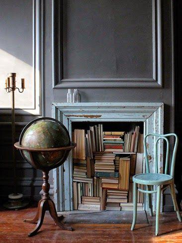 Chimeneas decorativas + DIY En Miss Manos Book/reading