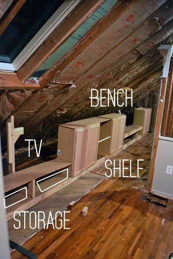 Adding Built In To Knee Wall Attic Renovation Attic Remodel Attic Design