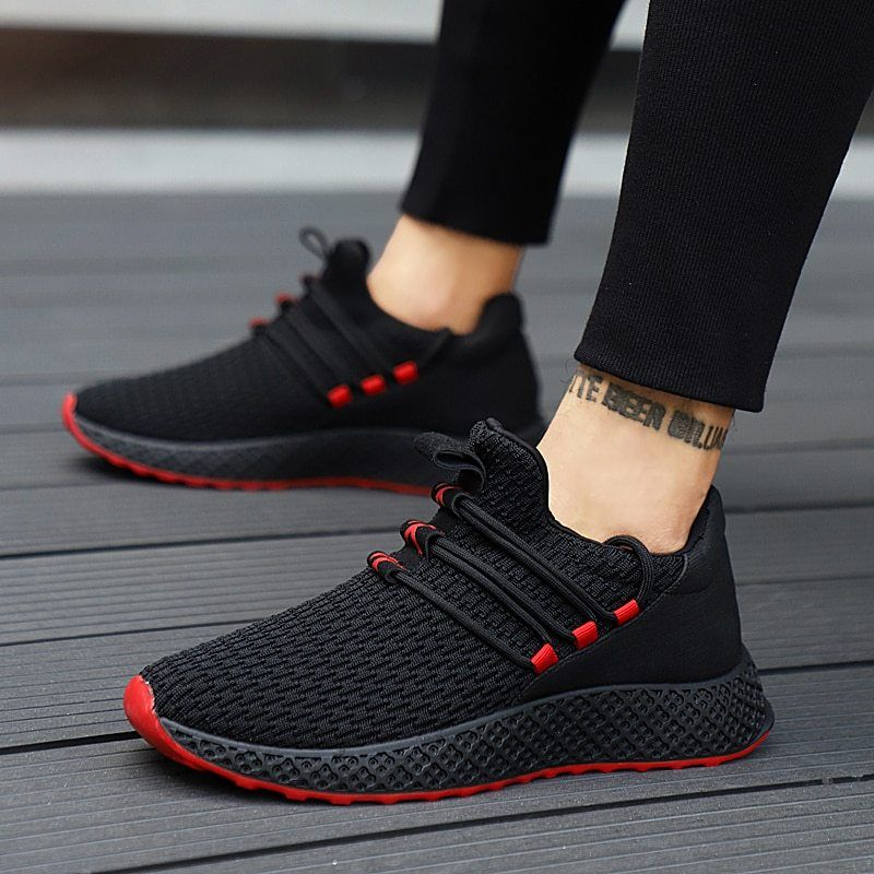 Mens Womens Jogging Shoes Lace Up Breathable Soft Flat Fitness Fashion Trainers