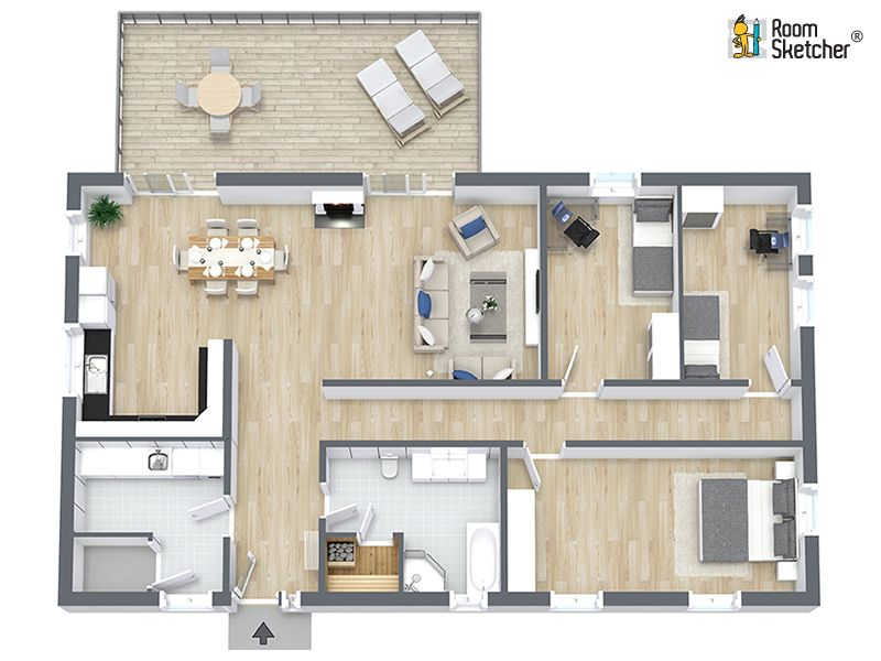 Looking For A Quick And Professional Way To Create Floor Plans Roomsketcher Drawing Services Can Help All You Need Is A Blueprint Or Sketch And We Ll Do T Hus