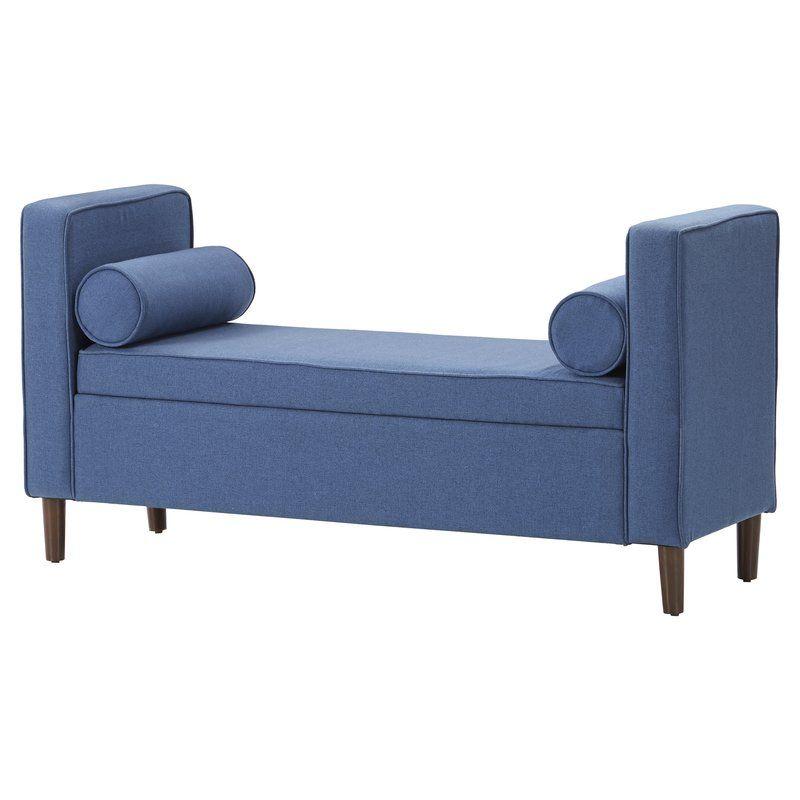 Telesphorus Upholstered Flip Top Storage Bench Upholstered