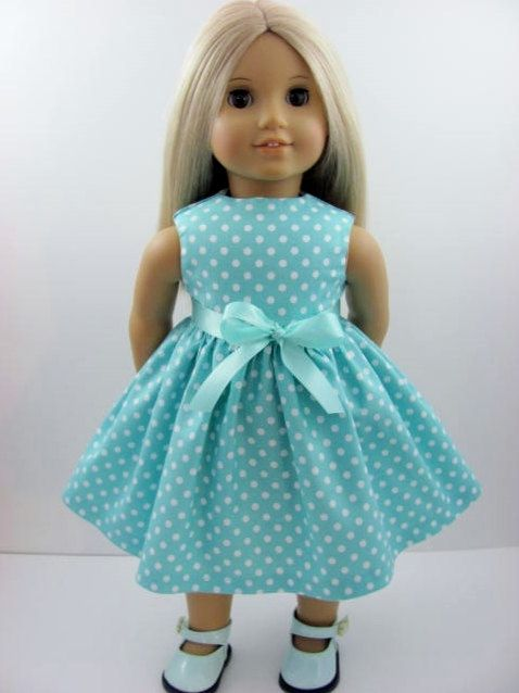 aqua dot doll dress for the american girl doll i want this for my dolls soooooo much ag. Black Bedroom Furniture Sets. Home Design Ideas