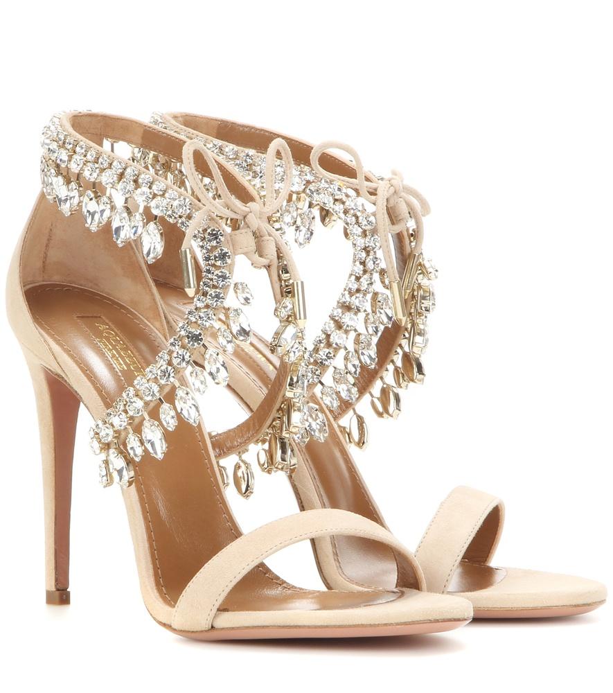 Nude Embellished Shoes Online