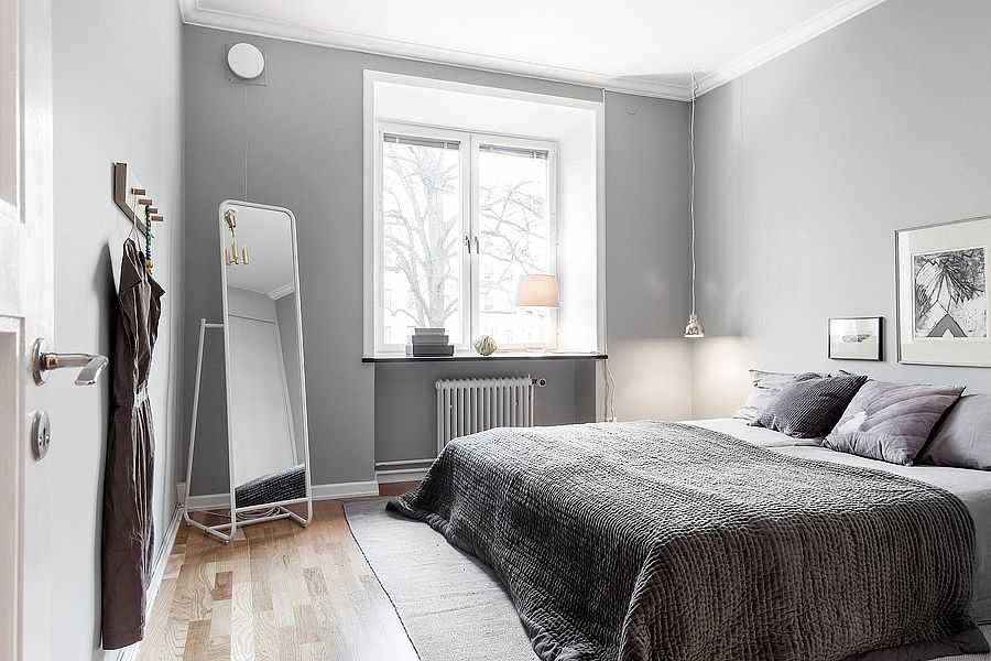 Sovrummet är placerat i lugnt läge mot gården