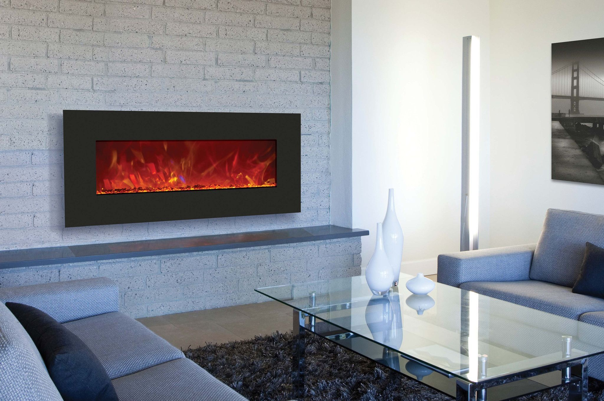Amantii Built In Wall Mounted Electric Fireplace Wm Bi 43 5123
