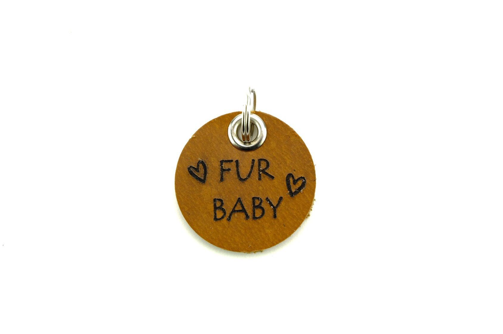Leather Dog Tags Laser Engraved With Fun Sayings Fur Baby