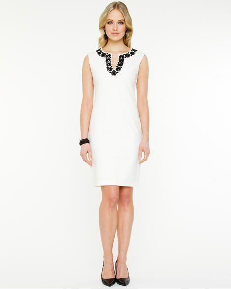 Embellished Ponte Shift Dress | Pinterest