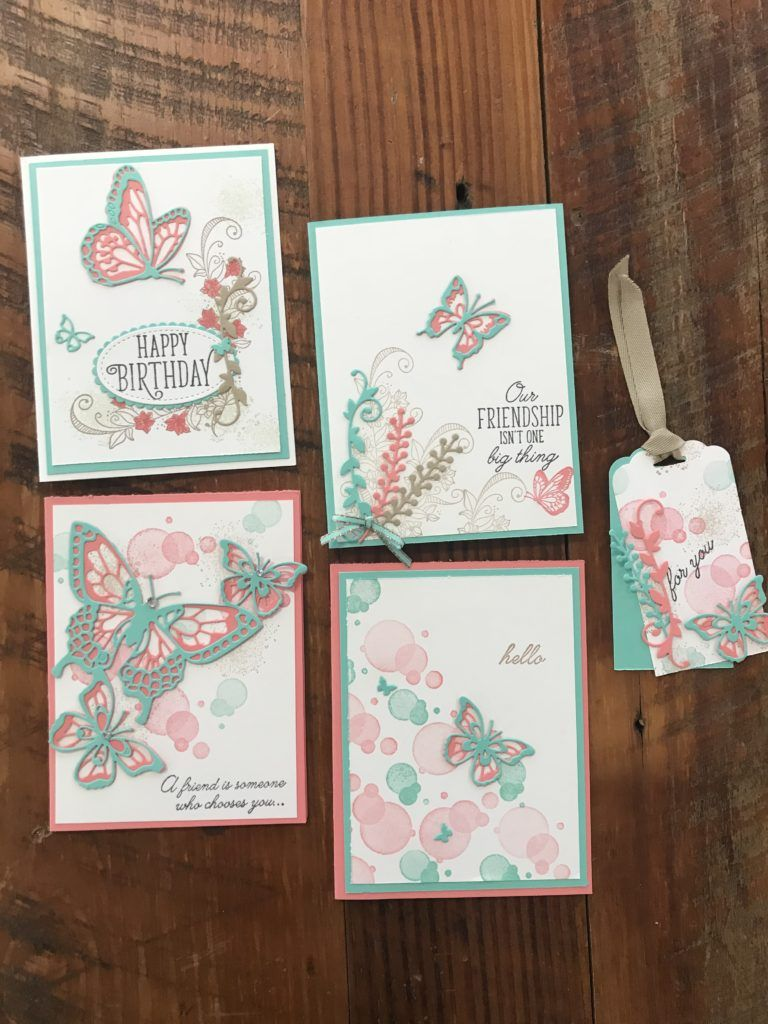 January Card of the Month This month's stamp of the month kit is using the Beauty Abounds with thinlets found on page 13 of the Occasions catalog. The inks and cardstock that I used were Coastal Cabana, Crumb Cake and…