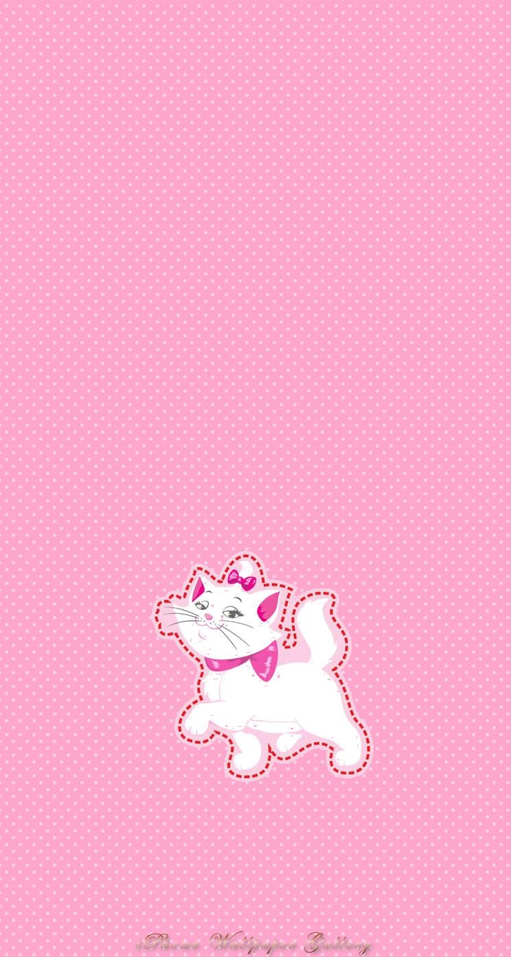 PINK CHARMY KITTY, IPHONE WALLPAPER BACKGROUND