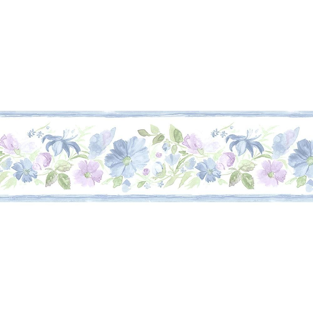 Norwall Fluted Floral Wallpaper Border Pr79660 Floral Wallpaper