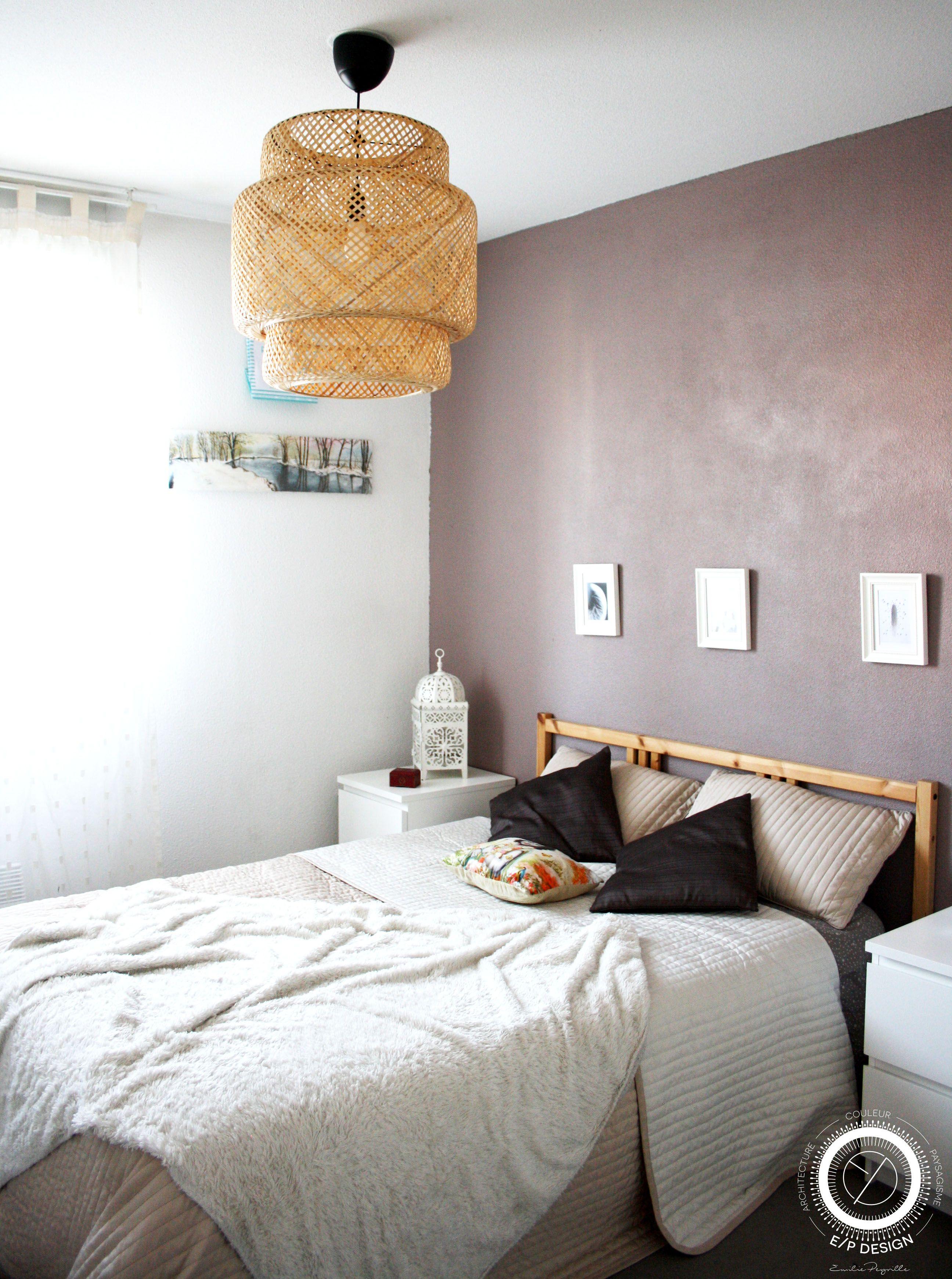 Décoration d'une chambre cocooning, une chambre en camaieu de ...