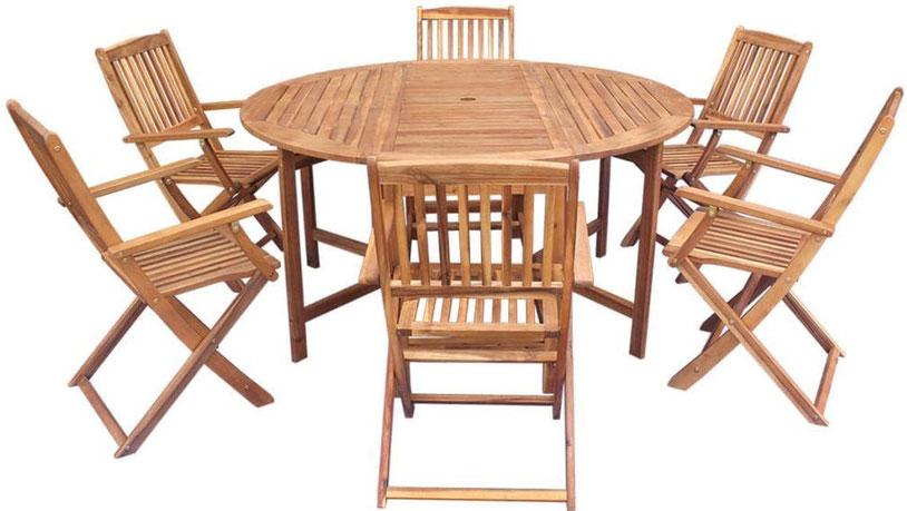 Set in legno San Diego | Tavolo e sedie, Legno, Sedia legno