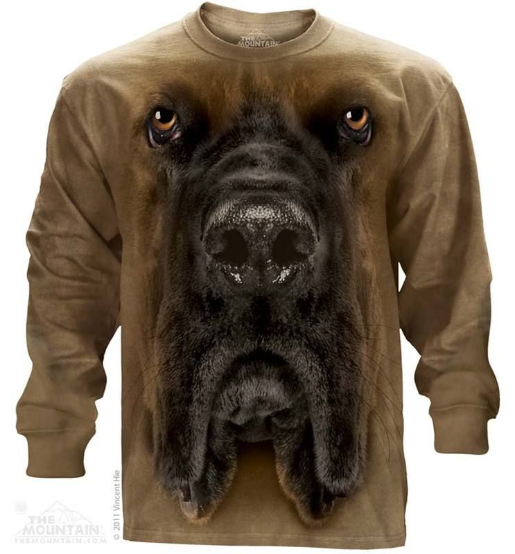 Big Face Mastiff Long Sleeve TShirt Animal tshirt, Dog