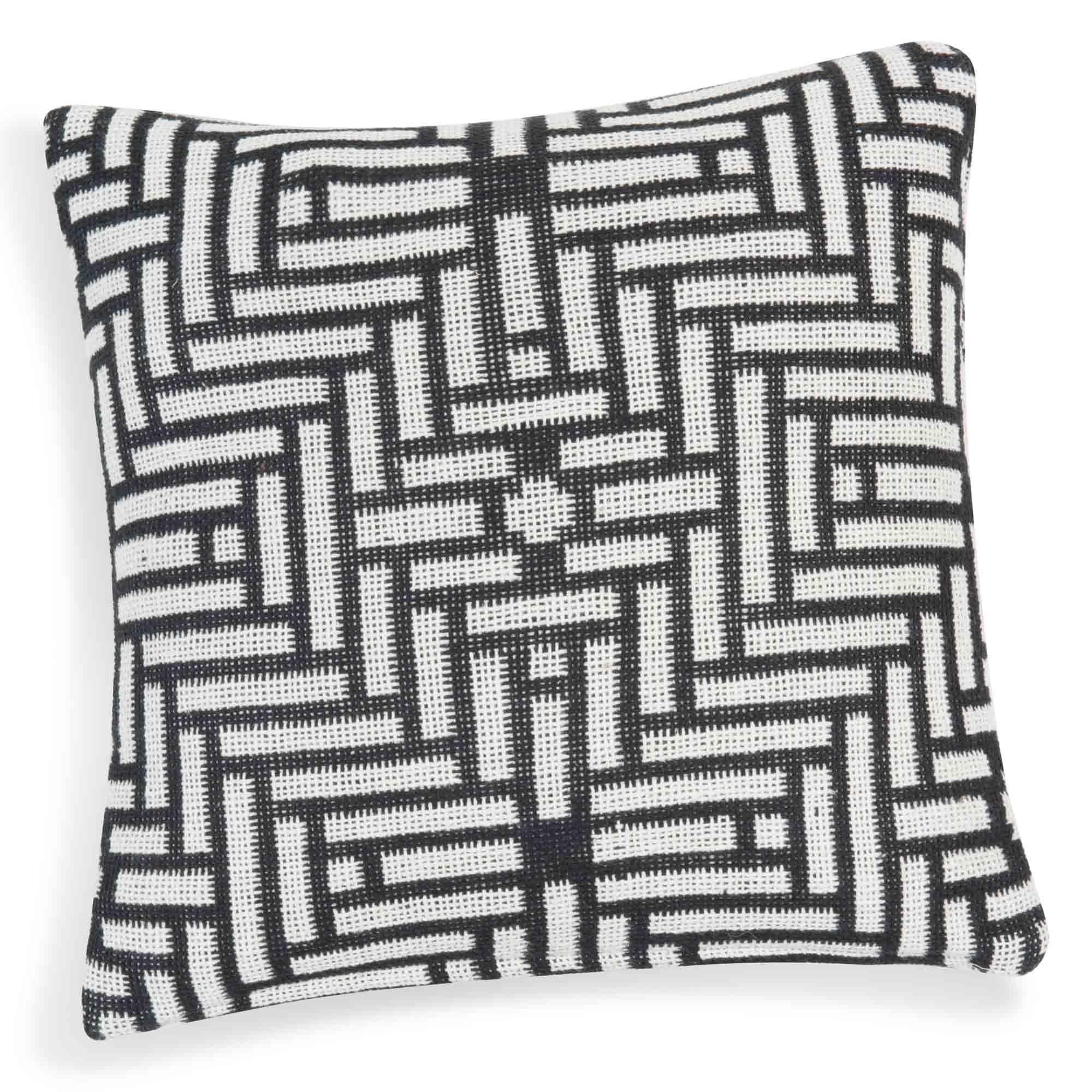 Housse De Coussin En Coton Noire Blanche 40 X 40 Cm Evora Cushion Cover Sofa Decor Throw Pillows