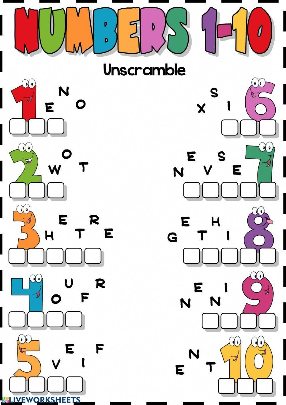 Numbers interactive and downloadable worksheet. You can do ...