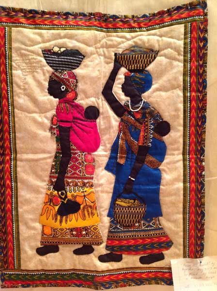AFRICAN INFLUENCED QUILT.............PC............Out of Africa ...