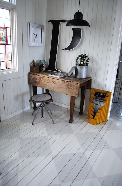 Checkered Painted Hardwood Floor Kitchen Flooring Ideas Trends