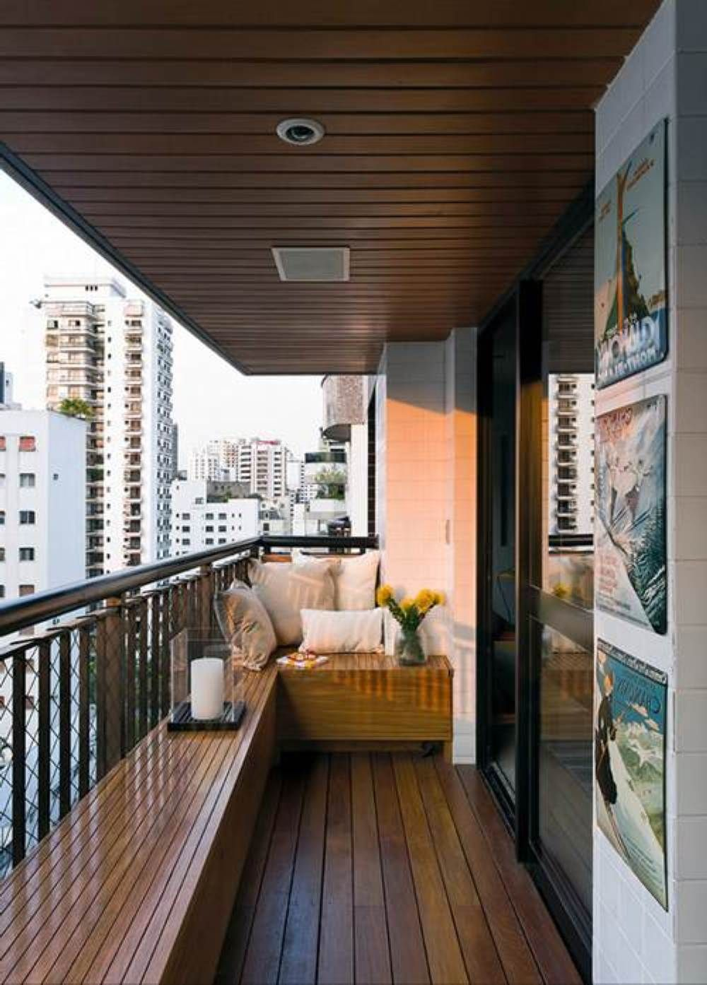 Awesome ideas to decorating a small balcony for the home for Terrace balcony