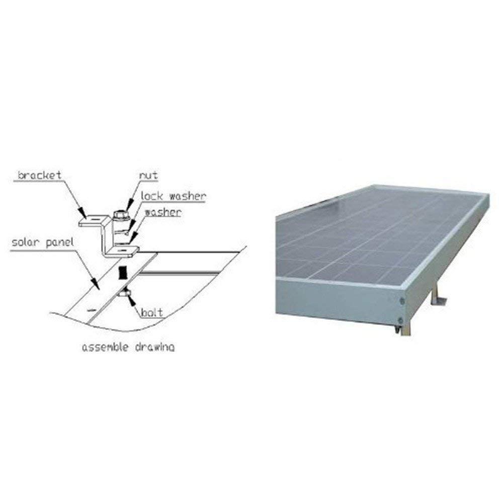 Solar Panel Z Bracket Mount Mounting Set for RV Boat Off Grid