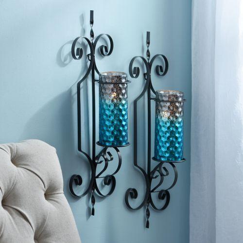 finest selection 68de2 3d5f9 Product Details Norwich Turquoise Honeycomb Sconces, Set of ...