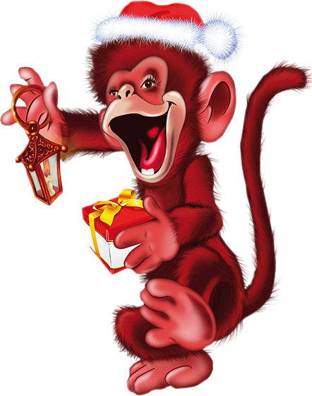 год красной обезьянки картинки