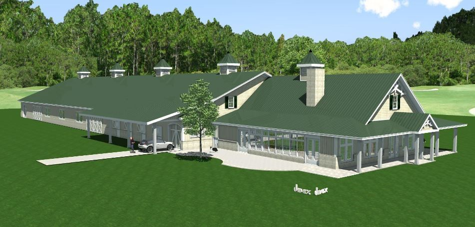 Horse barn riding arena kennels farm storage living for Farm shop plans with living quarters