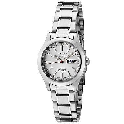 Seiko Women's SYMD87 Seiko 5 Automatic Light Silver Dial Stainless Steel Watch