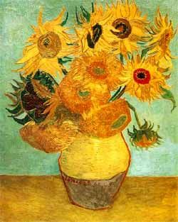 Sunflowers by Vicent Van Gogh.  I wish I could afford the original.  I guess a poster will have to do.