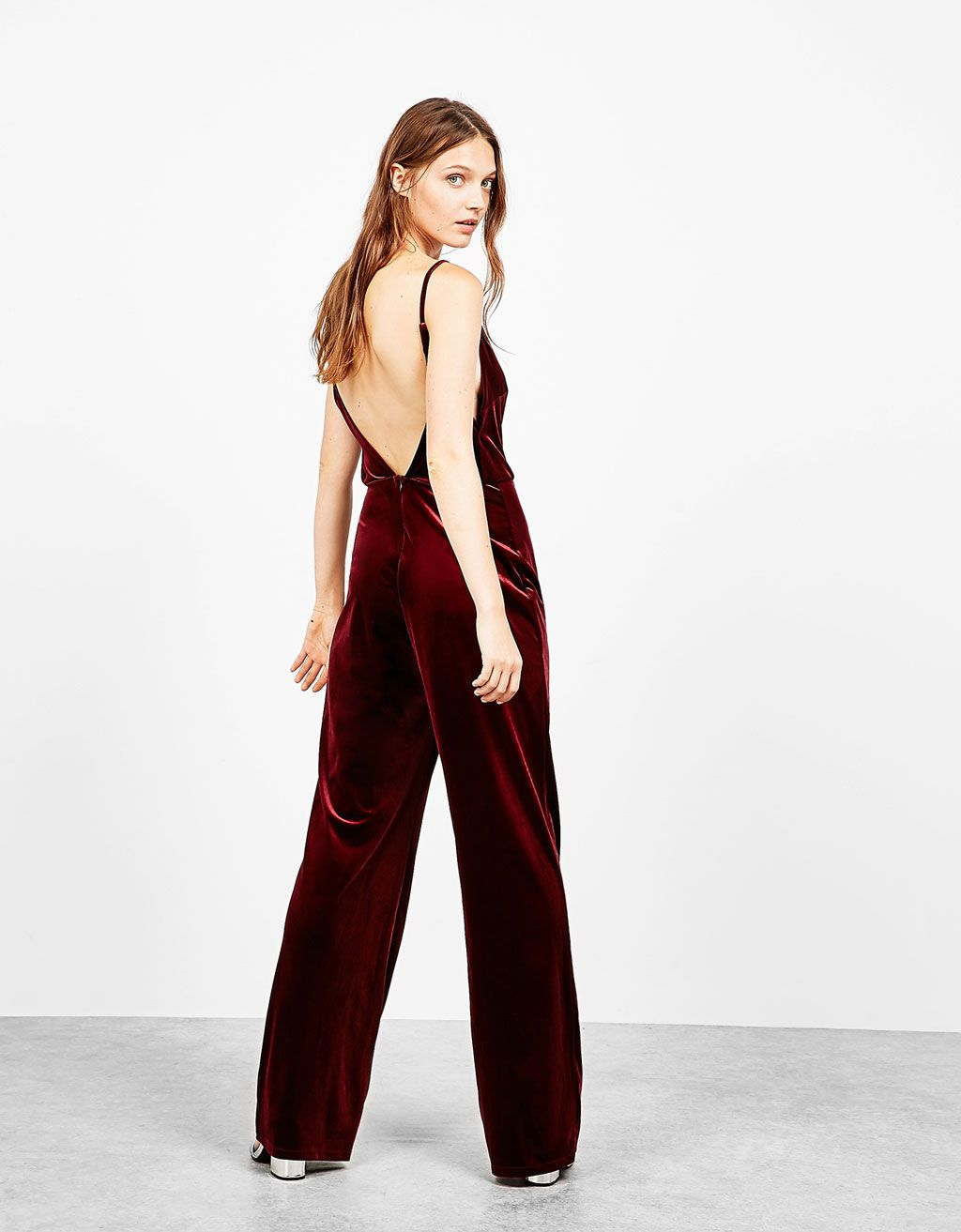 15cd4c8c1c Strappy wide leg velvet jumpsuit. Discover this and many more items in  Bershka…
