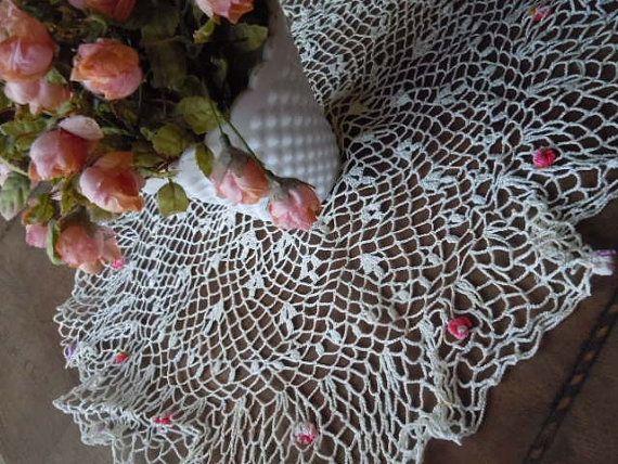 Vintage Doily Shabby Chic Spring Romantic White by AMarigoldLife, $14.00