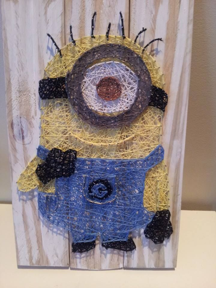 Minion string art. Check us out on Facebook at All Strung Up. https ...