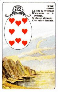 32-La Lune | Carte à jouer, Cartomancie et Lune