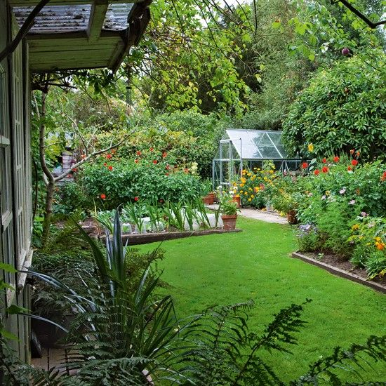 Flower Garden With Greenhouse Country Cottage Tour Housetohome Co Uk