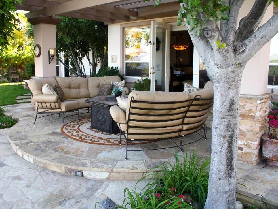 Extend Your Living Area   20 Wow Worthy Hardscaping Ideas On HGTV. I Like  The Conversation Area With The Fire Pit.