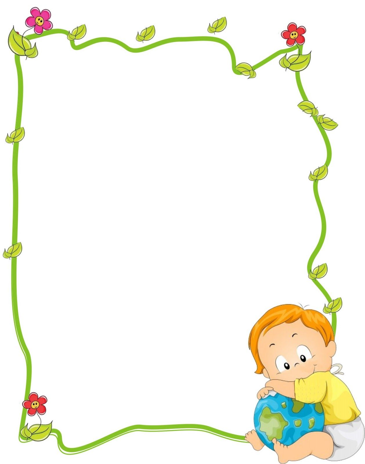 Bordes decorativos infantiles cerca amb google - Paginas de decoracion ...