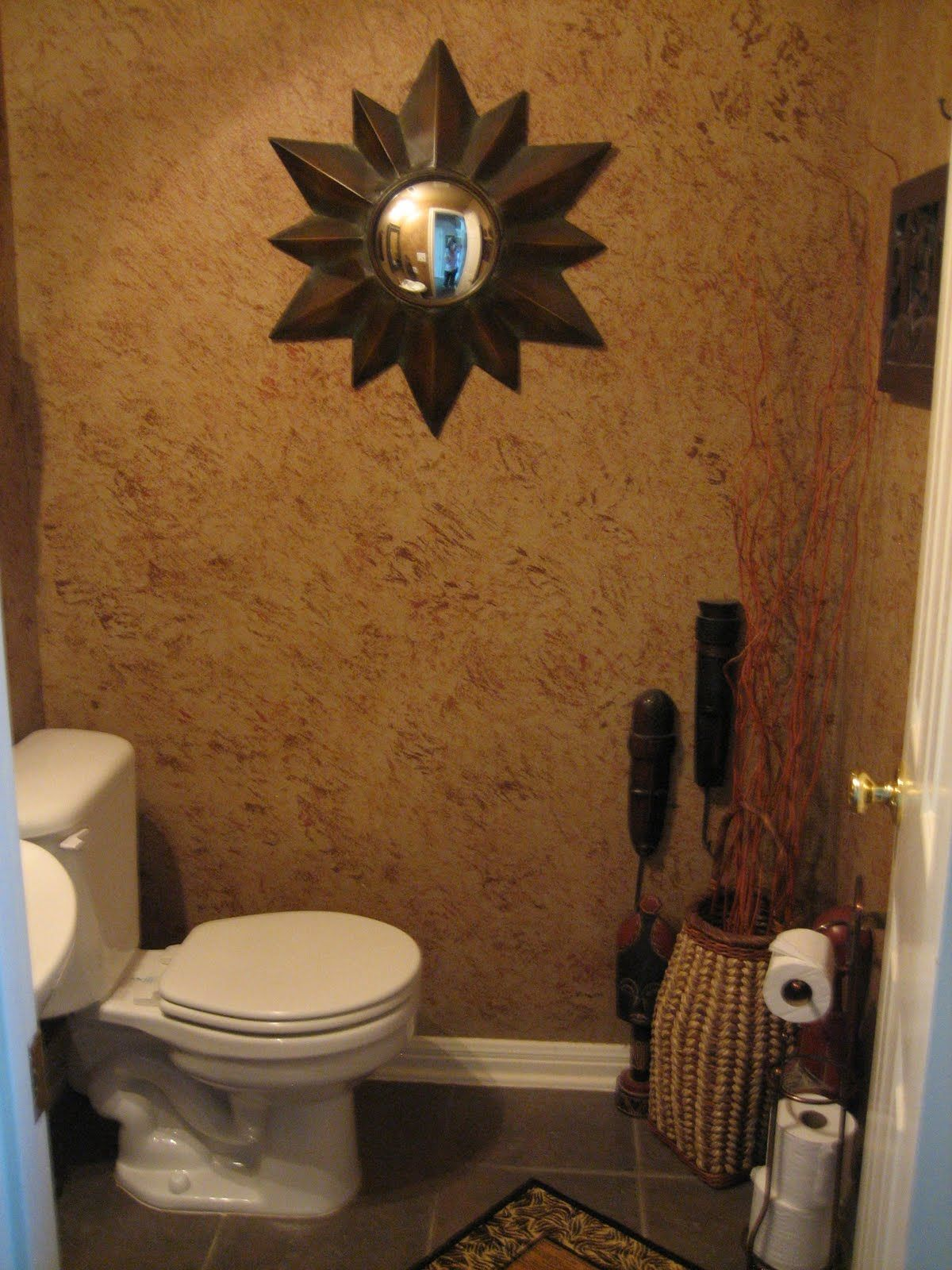 Image Detail For Was The Bathroom Before Affectionately Know As The African Bathroom Bathroom Decor Apartment Decor Inspiration Mirror Wall Bathroom African themed bathroom decor