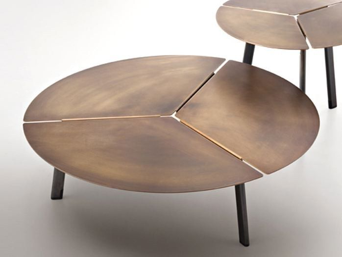 Low Round Metal Coffee Table Placas By De Castelli Design Lucidipevere Coffee Table Coffee Table Design Table Furniture
